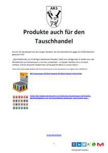 Produkte für den Tauschhandel in der Krise