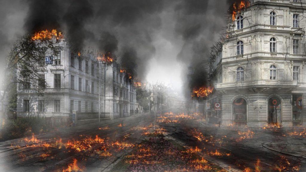 Unruhen und Plünderungen