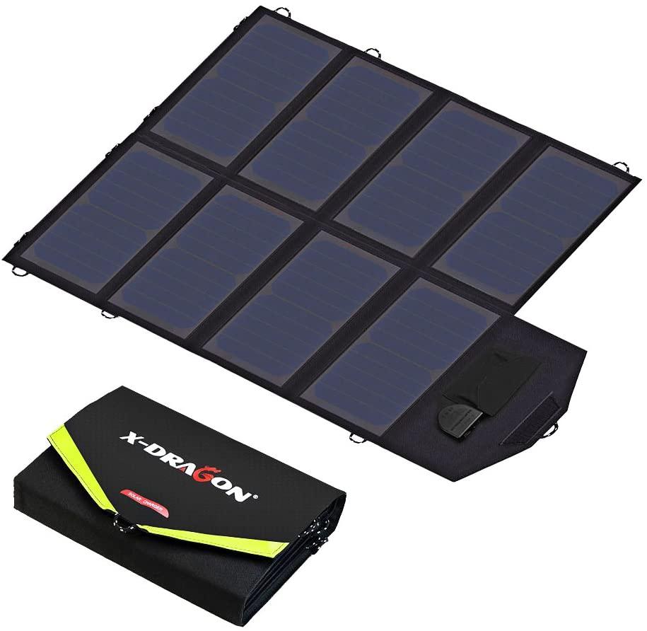 X-DRAGON Solar Ladegerät 40W 18V SunPower Faltbare Solarpanel, Gray Man – Strom, Licht und Kommunikation in einem Blackout