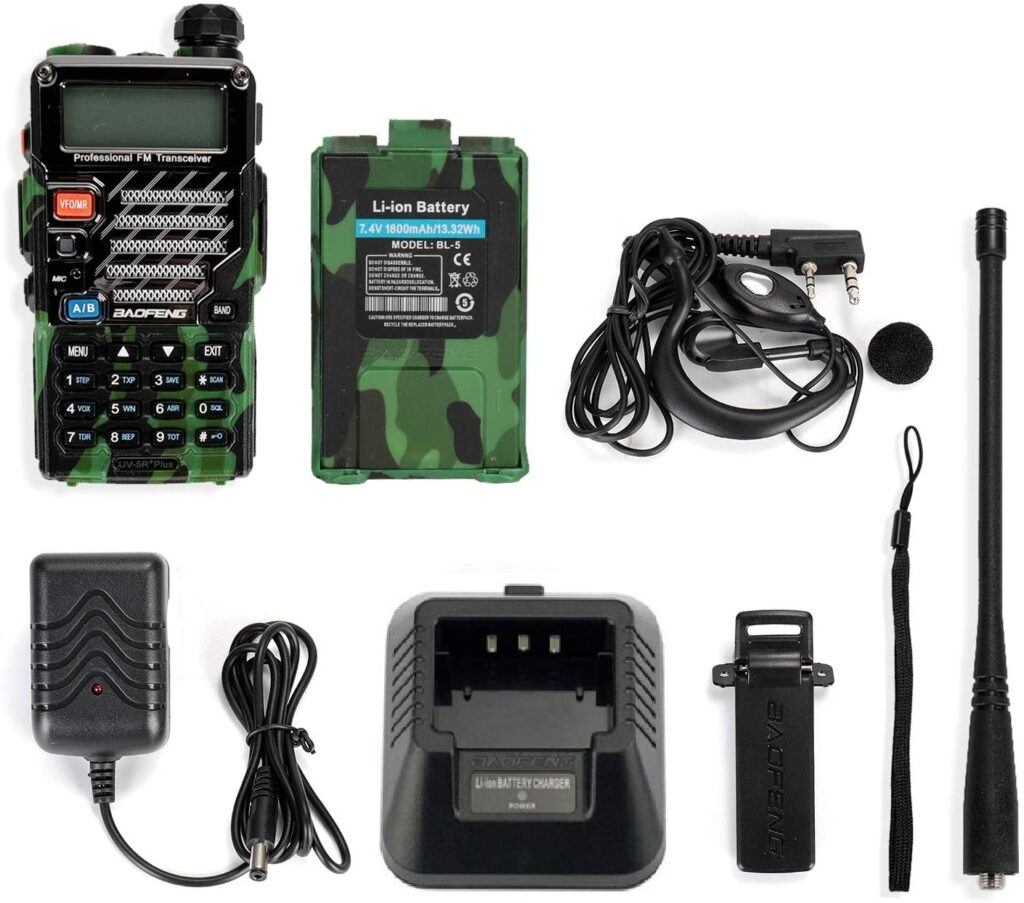 Baofeng UV-5R Plus Tragbares Radio FM, Gray Man – Strom, Licht und Kommunikation in einem Blackout