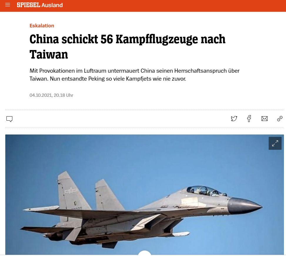 China vs. Taiwan - China schickt 56 Kampfflugzeuge nach Taiwan