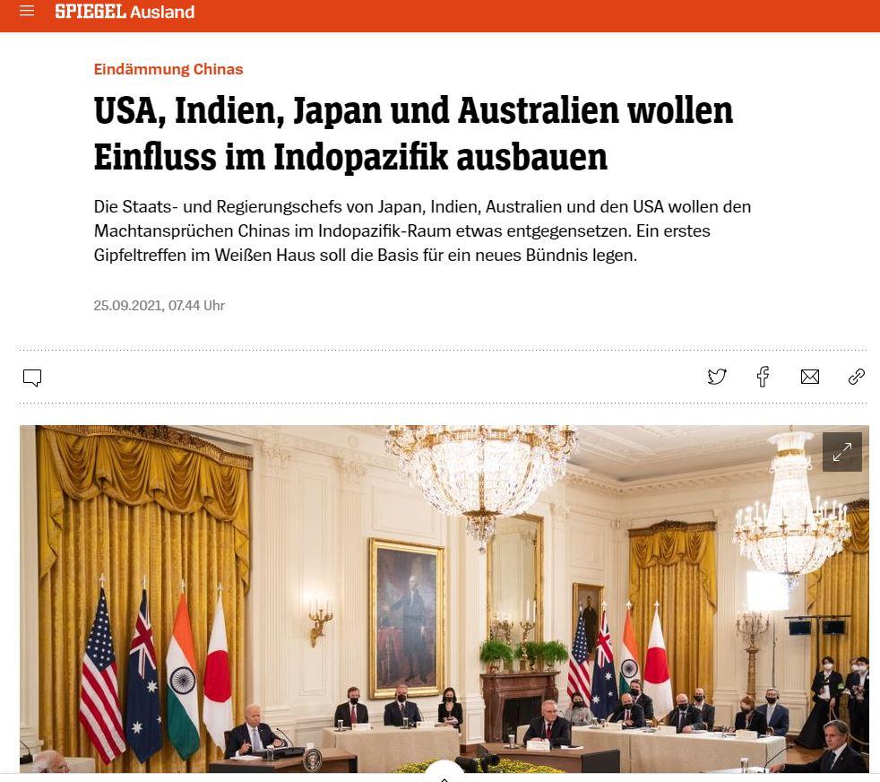 China vs. Taiwan - USA, Indien, Japan und Australien wollen Einfluss im Indopazifik ausbauen